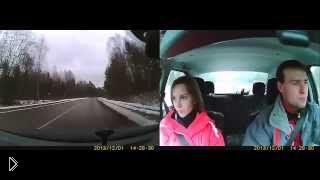 Смотреть онлайн Неожиданное появление лося на дороге