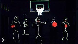 Светящиеся человечки играют в темноте - Видео онлайн