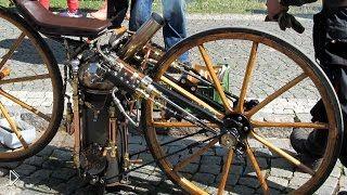 Смотреть онлайн Первый паровой мотоцикл в мире