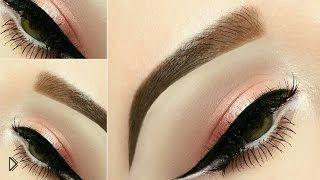 Натуральный макияж с четкой стрелкой - Видео онлайн