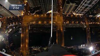 Смотреть онлайн С небоскреба на небоскреб по канату