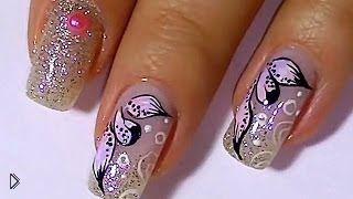 Смотреть онлайн Учимся рисовать лепестки на ногтях
