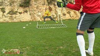 Смотреть онлайн Напряженная тренировка футбольной команды Монако