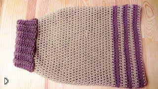 Смотреть онлайн Вязание свитера для собаки своими руками