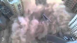 Крушение здания прямо на оживленную улицу - Видео онлайн