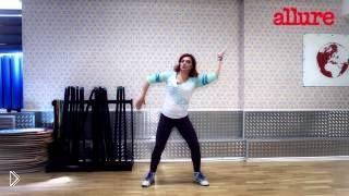 Базовые движения зумба танца для похудения, урок - Видео онлайн