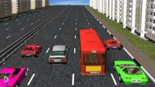 Смотреть онлайн Как правильно передвигаться по многополосной дороге