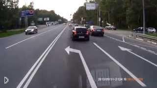 Смотреть онлайн Страшная авария мотоцикла и авто