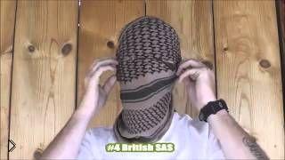 Смотреть онлайн Как завязывать арафатку чтобы закрыть лицо