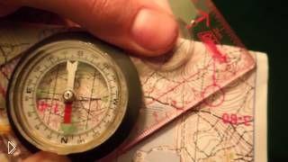 Смотреть онлайн Как определить азимут по компасу