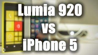 Смотреть онлайн Сравнительная характеристика Nokia Lumia 920 и iPhone 5