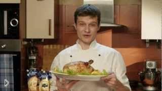 Смотреть онлайн Рецепт курицы в духовке с апельсинами