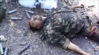 Смотреть онлайн Неудачная атака украинских солдат на блок пост сепаратистов