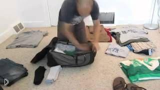 Смотреть онлайн Как компактно собрать много вещей в чемодан
