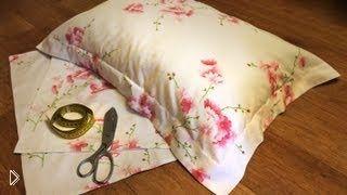 Смотреть онлайн Как сшить декоративную наволочку с ушками на подушку
