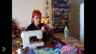 Смотреть онлайн Урок техники лоскутного шитья для начинающих