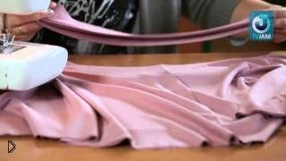 Смотреть онлайн Как быстро сшить кофту с рукавом летучая мышь