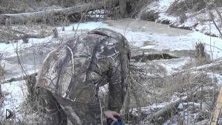 Смотреть онлайн Правильная установка силков на бобра зимой