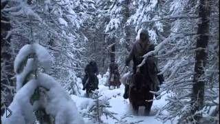 Смотреть онлайн Фильм про зимнюю охоту в Прибайкалье на медведя