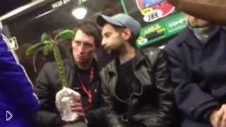 Смотреть онлайн Два наркомана едут в метро и любуются цветком