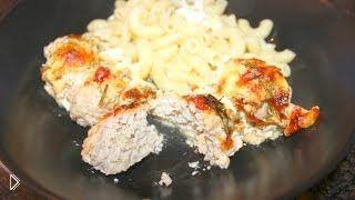 Смотреть онлайн Рецепт куриных тефтелей с подливкой в духовке