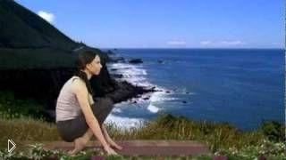 Смотреть онлайн Урок йоги для похудения начинающим