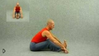 Смотреть онлайн Асана йоги для начинающих: наклон вперед сидя