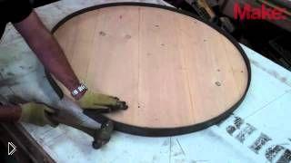 Смотреть онлайн Как сделать круглый стол своими руками