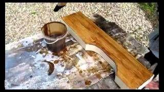 Смотреть онлайн Как сделать стол из массива дерева своими руками