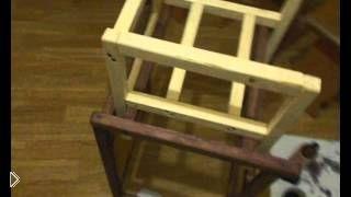 Смотреть онлайн Как сделать детский стульчик трансформер для кормления