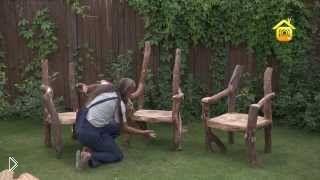 Смотреть онлайн Мебель в рустикальном стиле своими руками