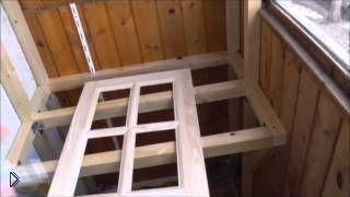 Смотреть онлайн Как сделать встроенный шкаф на балконе своими руками