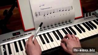 Смотреть онлайн Как научиться читать ноты на пианино начинающим