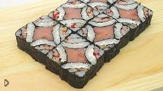 Смотреть онлайн Рецепт приготовления мозаичных роллов