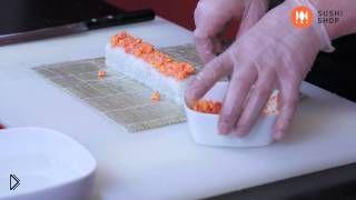 Смотреть онлайн Рецепт приготовления роллов