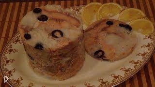 Смотреть онлайн Ветчина из филе трески и горбуши: готовим дома