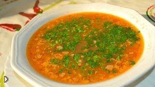 Смотреть онлайн Рецепт приготовления супа харчо с курицей