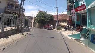 Смотреть онлайн Движение в Далате в дневное время, Вьетнам