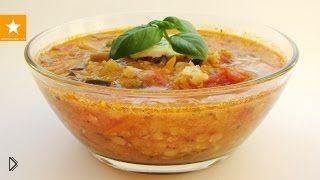 Смотреть онлайн Рецепт вегетарианского чечевичного супа