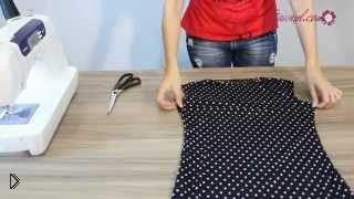 Смотреть онлайн Пошив простого короткого платья без выкройки