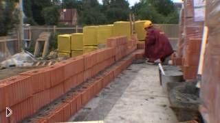Смотреть онлайн Строительство частного дома из красного кирпича