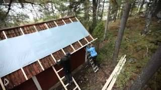 Смотреть онлайн Работы по монтажу крыши на даче за выходные