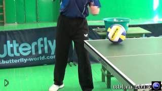 Смотреть онлайн Как научиться настольному теннису: правильная подача