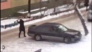 Смотреть онлайн Женская месть: девушка разбила машину мужа