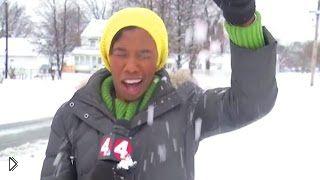 Смотреть онлайн Подборка снежных фейлов ведущих новостей