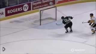Смотреть онлайн Крутой и невероятный гол в хоккее