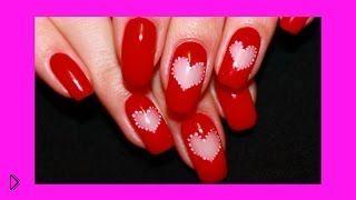 Смотреть онлайн Красивый маникюр на день Святого Валентина