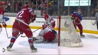 Смотреть онлайн Хоккей: игра России против Дании. Все голы и буллиты