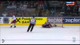 Смотреть онлайн Подборка голов в хоккейном матче Россия – США 2014