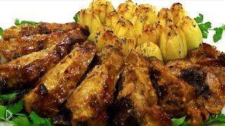 Смотреть онлайн Запеченное сочное мясо с картошкой к 23 февраля